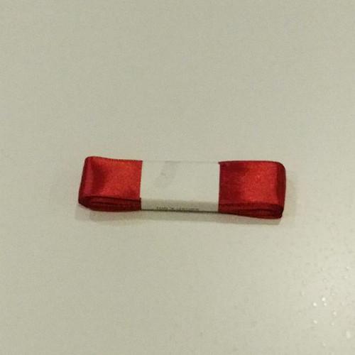 """Wide red silk ribbon 25mm x 5m (1"""" x 1.5 yrd)"""