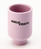 Weldcraft Gas Lens Alumina Nozzle - Medium (57N/53N Series)  genuine Weldcraft TIG torch large Gas Lens Nozzle. Suitable for all 17, 18 and 26 series TIG torches.