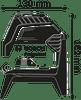 Bosch GCL 2-15 Combi Laser professional 3