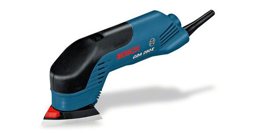 Bosch professional Delta sander. Handy with 280 watts of power for high material removal rates when sanding and polishing in corners and edges, in hard-to-reach areas and on small surface areas SDS system for easy sanding pad changes without tools Softgrip for ergonomic handling