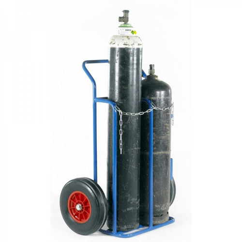 Hellog oxygen and acetylene cylinder trolley with inflatable tires