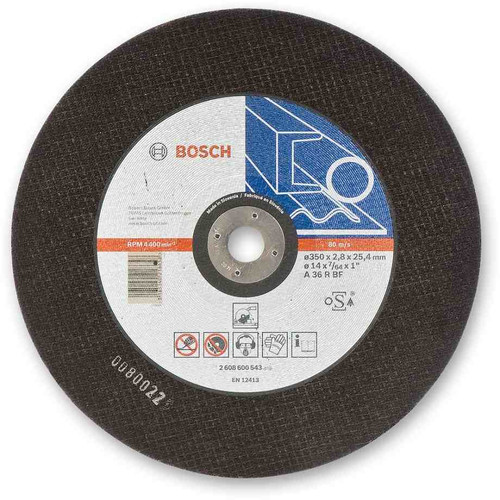 Bosch Metal Cutting Disc For Chop Saws 355mm