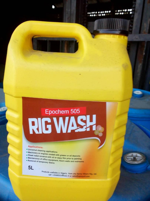 Epochem 505 Rig wash Industrial Cleaner 5Liters keg