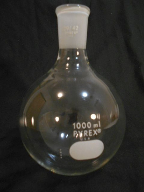Round Bottom Flask Quick Fit 1000ml- Pyrex
