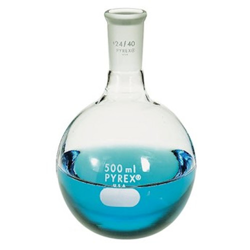 Round Bottom Flask Quick Fit 500ml- Pyrex