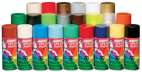 spray paints (blue colour) ABRO