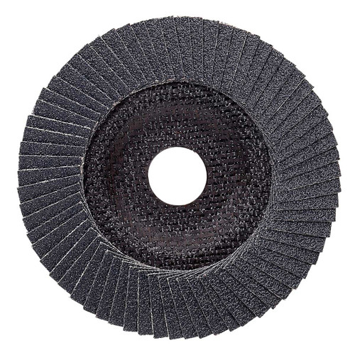 Flap Disc are created by overlapping coated abrasive flaps and adhering them firmly to a back-up plate. This design provides a cooler running,longer lasting disc.And because new layers of abrasive are constantly being exposed, a very consistent finish is provided during the life of the disc.These discs are specifically recommended for high stock removal on stainless steel,carbon steel,aluminum,and most alloys. They offer many times the life of conventional resin fiber discs.