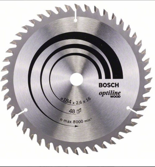 Bosch Optiline Wood Circular Saw Blade 184x16/25,19,20x2,5mm,40
