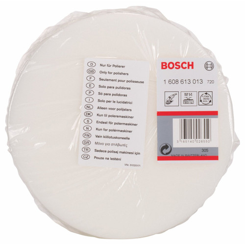 Polishing Sponge for Bosch Polishers GPO 12 and GPO 12 E Professional M14 thread 160mm