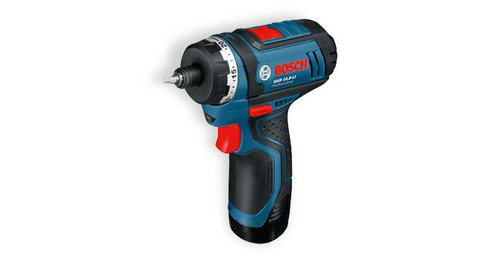 Bosch GSR 10,8 -LI professional cordless drill/Driver The most important data Battery voltage 	10,8 V Max. screw diameter 	7 mm Max. torque (hard/soft) 	30 / 15 Nm