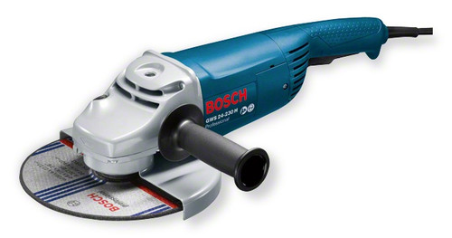Bosch GWS 24-230 H professional Angle Grinder. The most important data Rated power input 	2.400 W No-load speed 	6.500 rpm Disc diameter 	230 mm