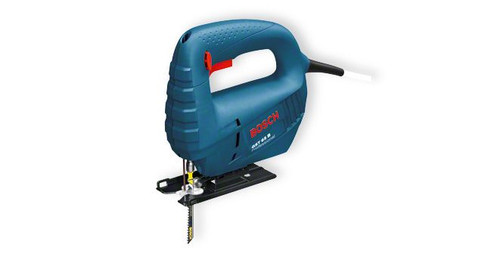 Bosch GST 65 professional Jigsaw The most important data Rated power input 	400 W Cutting depth in wood 	65 mm Weight 	1,7 kg
