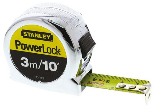 3M Stanley Measuring Tape - Stanley Powerlock
