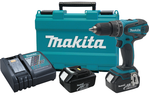 "Makita Drilling Machine V LXT® Lithium-Ion Cordless 1/2"" Hammer Driver-Drill Kit Model XPH01"