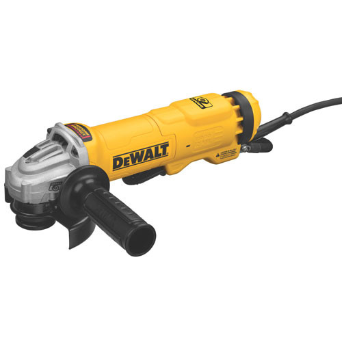 "Dewalt 4.5"" Small Angle Paddle Switch Angle Grinder with Brake and No-Lock On"