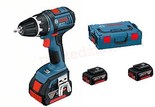 "Buy Bosch GSR 18 v-LI + 3x4,0 Ah Drill Driver online at GZ Industries Supplies Nigeria Technical data:      Battery Voltage: 18V     Battery Capacity: 4.0Ah     Maximum torque (hard screwdriving / soft): 67 / 28nm     No-load speed: speed I: 0-500min-1, II gear: 1700min-1     Scope mounting bracket min./max .: 1.5 / 13mm     Spindle Thread: 1/2 ""     Number Torque: 18 + 1     The maximum drilling diameter in wood: 35mm     The maximum drilling diameter in steel: 13mm     The maximum diameter of the screw: 8mm     Weight with battery: 1.8kg"