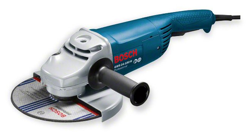 Bosch angle grinder: Advantages: GWS 24-180 H Professional The powerful tool with low weight Powerful 2400-watt Champion motor for fast work progress Compact design for good handling and control over the machine