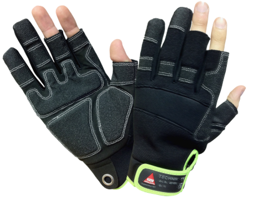 Safety Hand glove Technik 3-fingers Hase Safety work wear