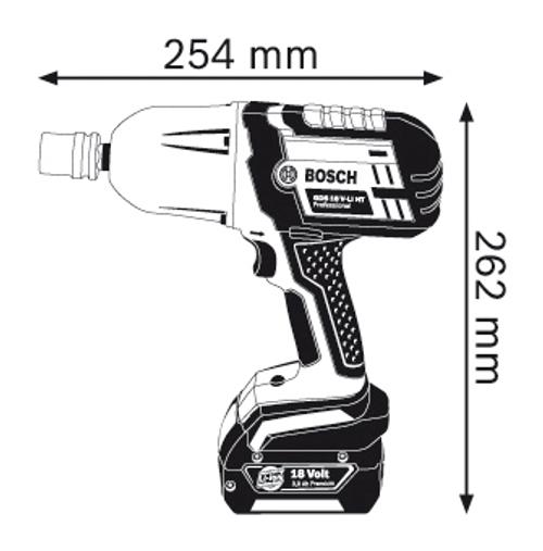 Bosch GDS 18 V-Li HT Cordless Impact wrench professional