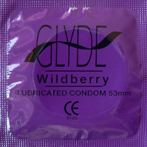 Glyde Flavors Wildberry (53mm) 100 Condoms