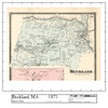 Set of 12 same size Historical Maps - Buckland MA Old Map
