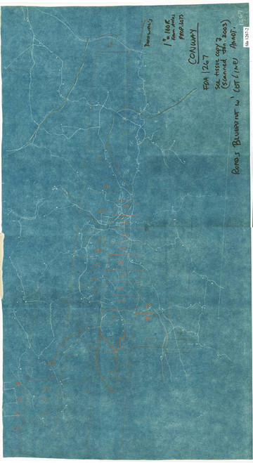 Conway 1778 - Old Town Map -