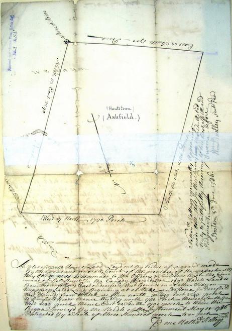 Ashfield 1736 - Old Town Map - digital photo