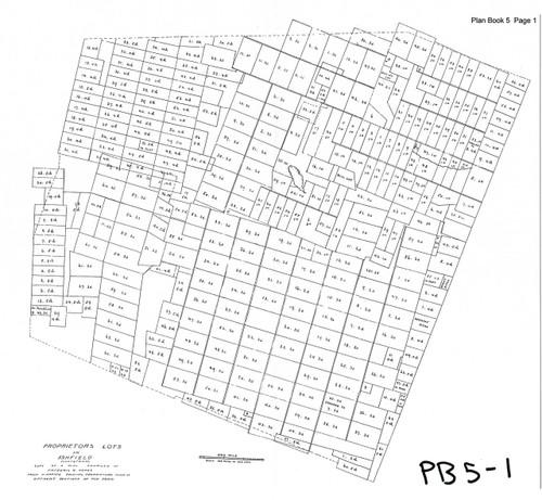Ashfield ca1780 - Old Town Map - PB 5-1