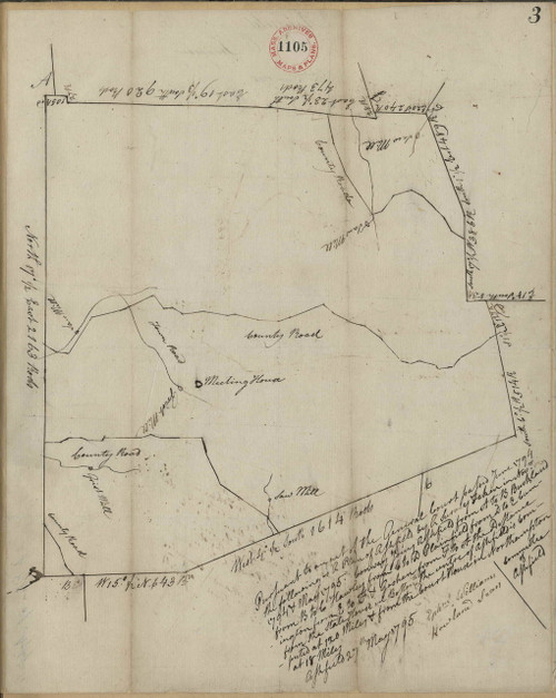 Ashfield 1794 - Old Town Map - orig copy