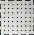 Basketweave Carrara/Nero Marquina Honed Mosaic
