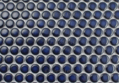 Cobalt Blue Gloss Porcelain Penny Round Mosaic tile