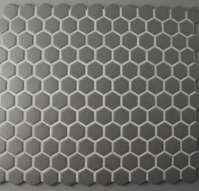 Unglazed Black Hexagonal Mosaic 23mm