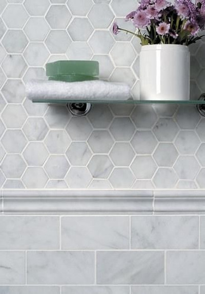 Carrara  Subway  Marble Wall Tile 75x150mm - SOLD PER TILE