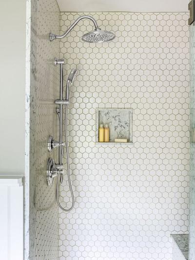 White Gloss Hexagonal Mosaic 51mm -