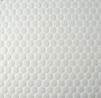 White Matt Penny Round Mosaic Tiles 19mm