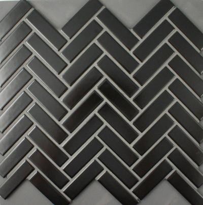 Black Herringbone Mosaic  72x22mm