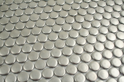 Silver Penny Round 19mm Mosaic