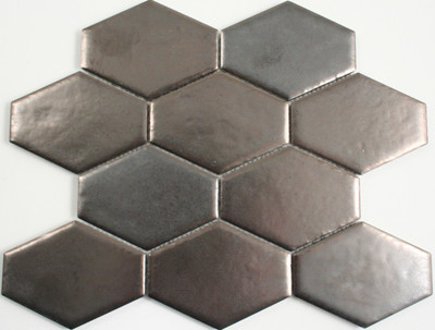 Antiqued Metal Plated Honeycombe Mosaic