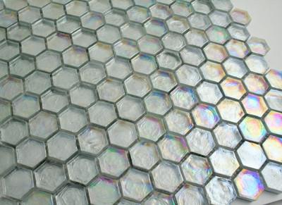 Glass Hexagonal Mosaic Tile 25mm