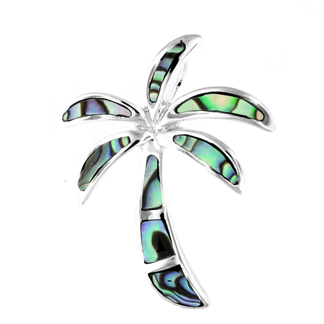 Sterling silver palm tree pendant royal hawaiian heritage jewelry sterling silver abalone palm tree pendant mozeypictures Gallery