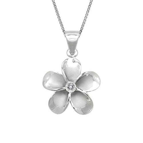 Hawaiian pendants royal hawaiian heritage jewelry sterling silver plumeria pendant 15mm aloadofball Images