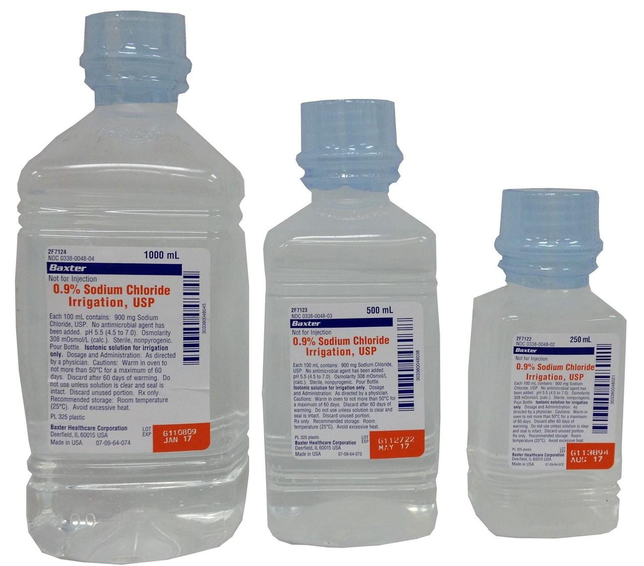 Saline (Sodium Chloride) For Irrigation In Bottles
