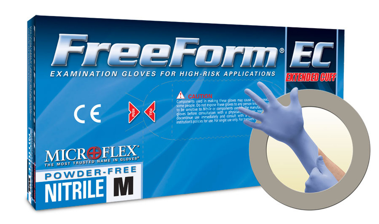 Microflex Freeform EC (Extended Cuff) Nitrile Gloves - 50 per Box