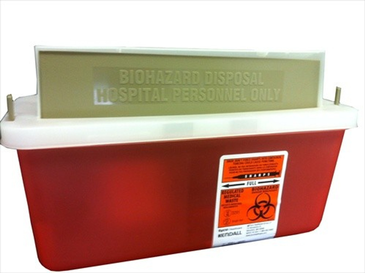 2 Quart (0.5 Gallon) Sharps Container #8503  by Kendall