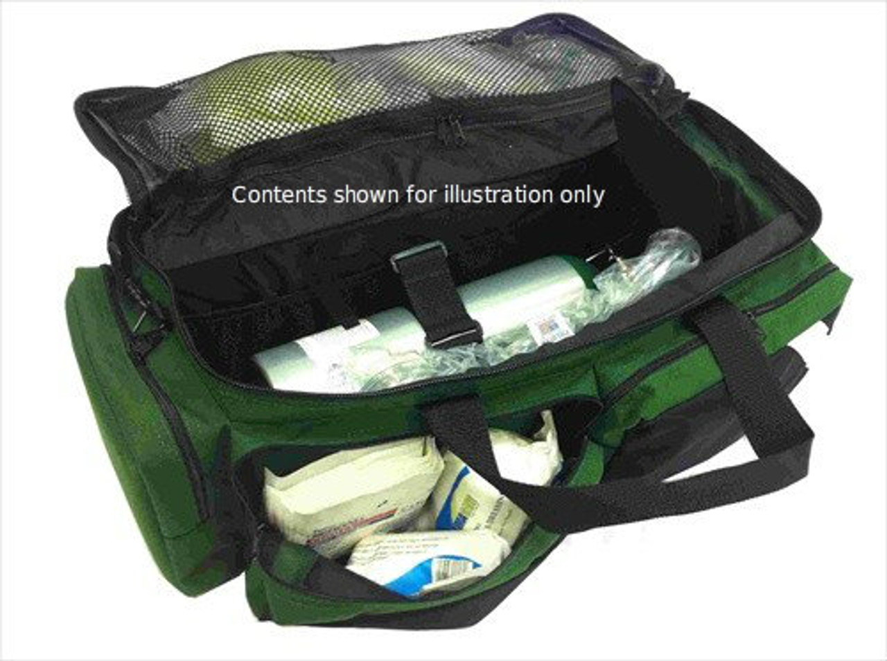 Dual Front Pocket Airpack Green - Open