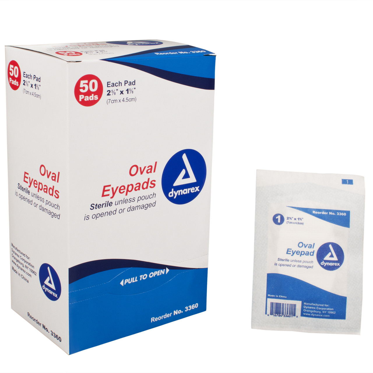 Oval Eye Pads - 50/Box