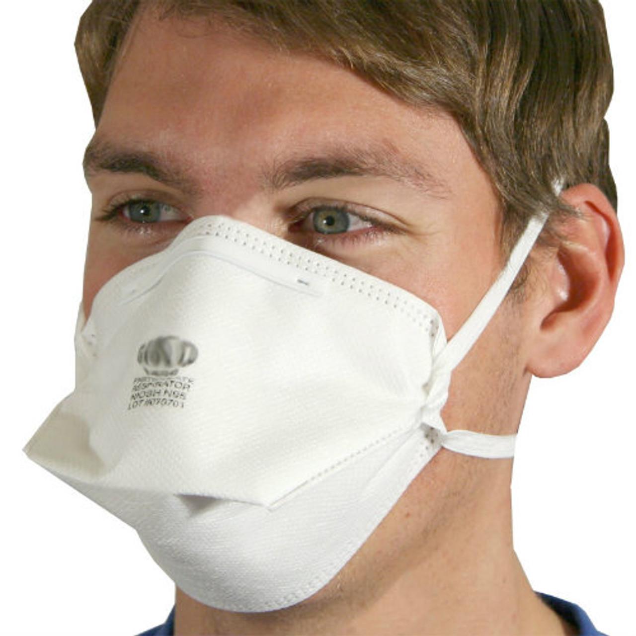 Fold-Flat N95 Particulate Respirator Masks - 20 per Box