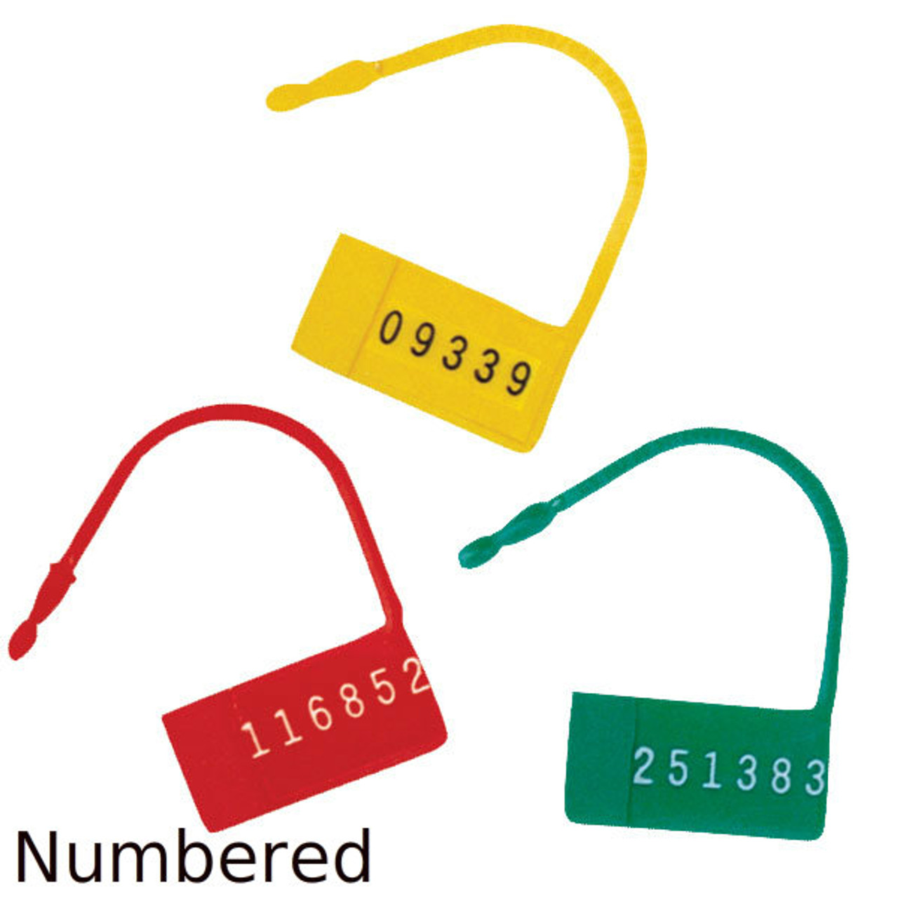 Security Control Locks (Seals) with Numbers - 100 per Pack