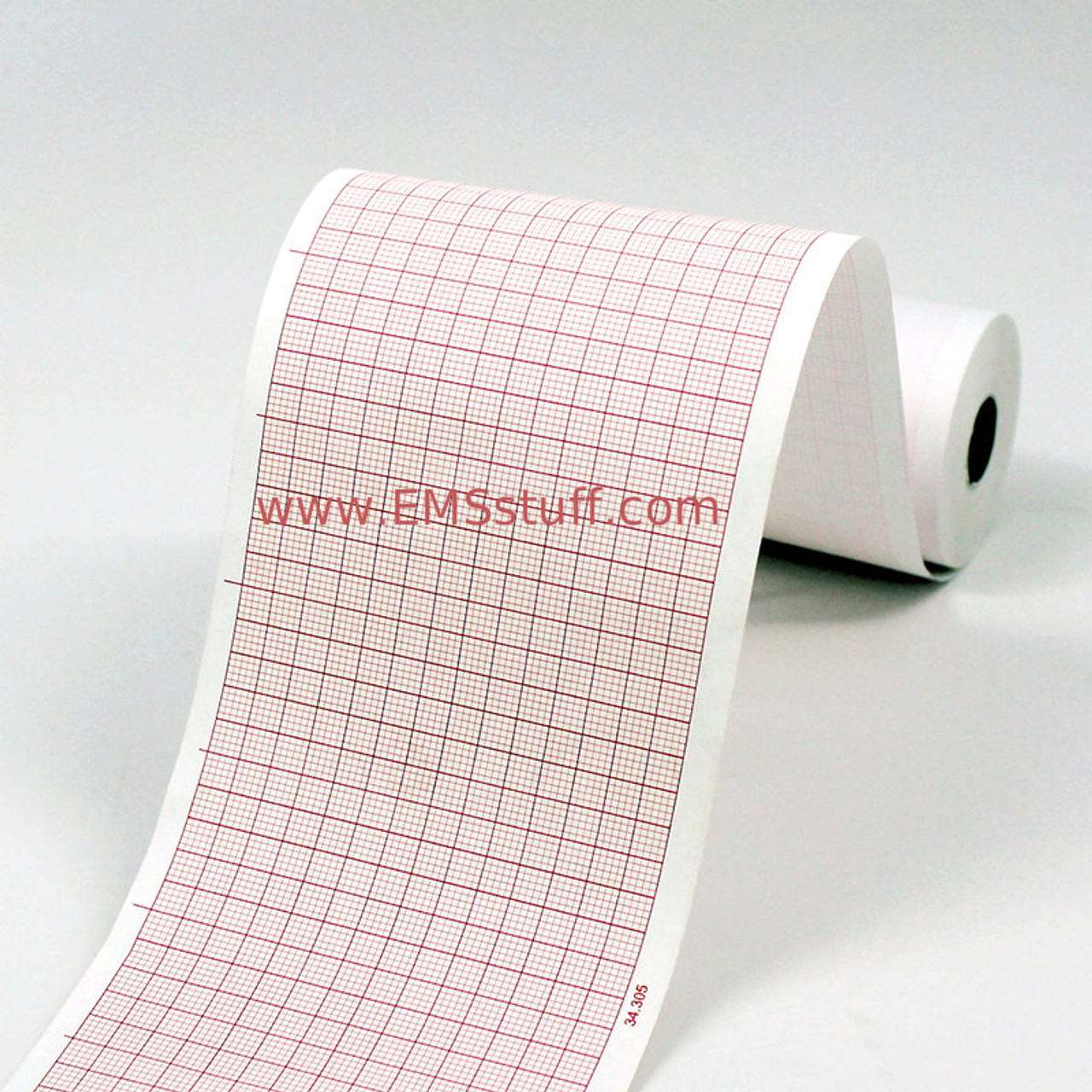 Zoll X Paper with Red Grid