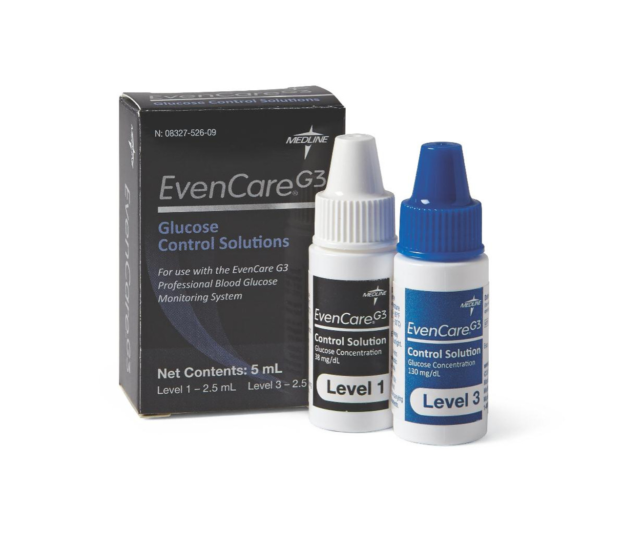 Hi/Lo Control Test Solutions for EvenCare G3 Glucometer